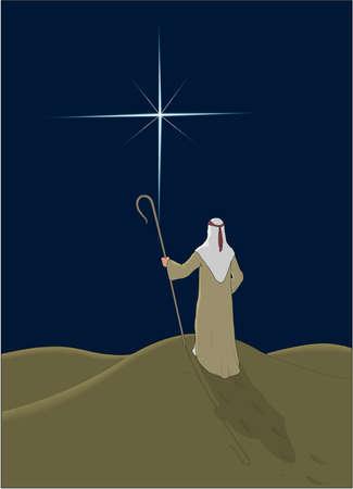 Shepherd Illustration 向量圖像