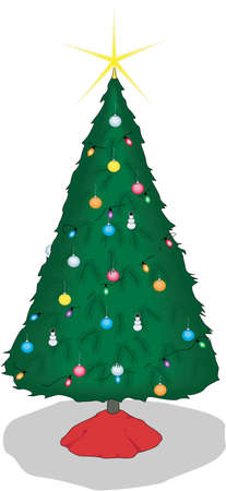 Christmas Tree Illustration Иллюстрация