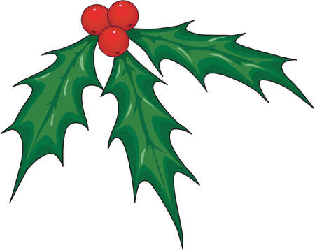 Mistletoe, Christmas decoration Illustration