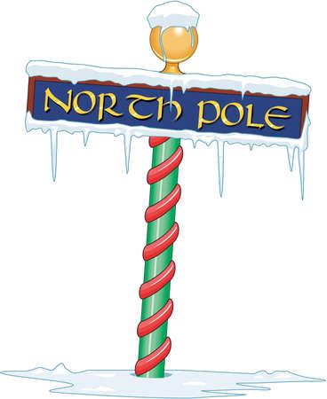 Noordpool Teken Illustratie