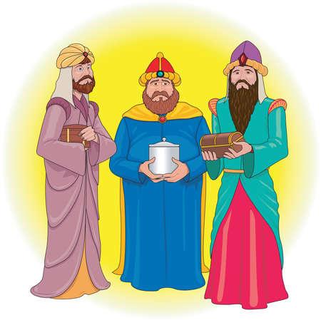 Drie wijze mannen illustratie Stock Illustratie