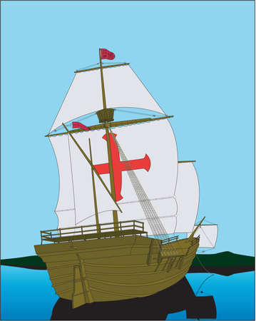 Santa Maria Illustratie