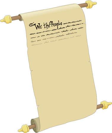 Ilustración de la constitución estadounidense