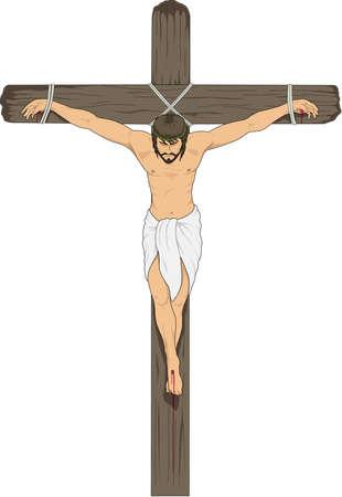 십자가에 일러스트 레이션 예수