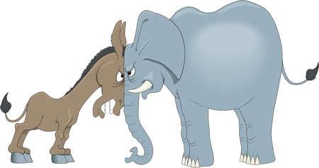 Democrats vs. Republicans Cartoon