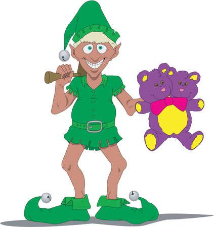 Santa's Elf Cartoon