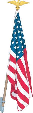 U.S. Flag Illustration