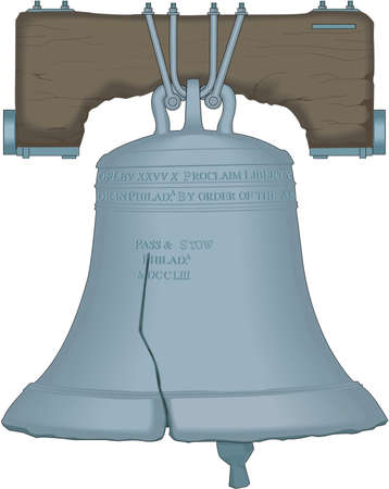 Liberty Bell Illustration Çizim