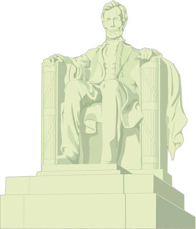Lincoln Memorial Illustration