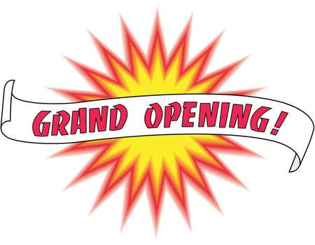 Grand Opening Illustration Illusztráció