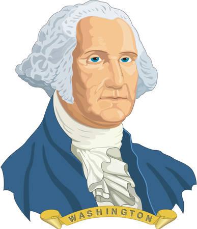 George Washington Illustration  イラスト・ベクター素材