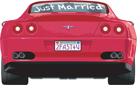 Just Married Illustration