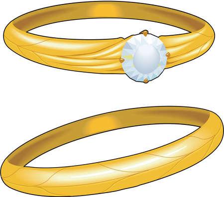 Wedding Rings Illustration Ilustração