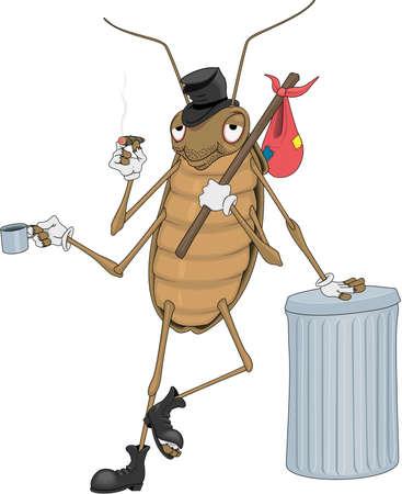 Kakkerlak Cartoon Stock Illustratie