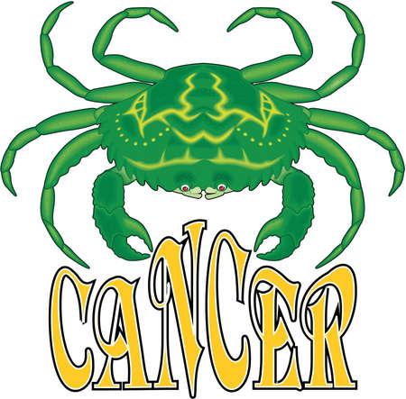 Cancer sign illustration. 向量圖像