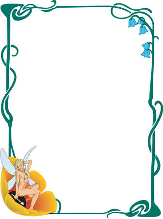 Fairy border illustration.