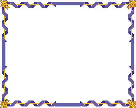 Regal border illustration.