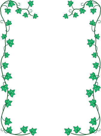 Ivy Leaves and Vines Border Illustration