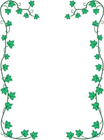 Ivy Leaves and Vines Border Illustration