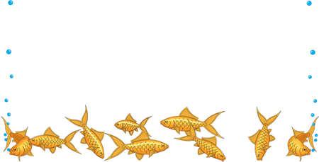 Goudvis Border Illustratie Stock Illustratie