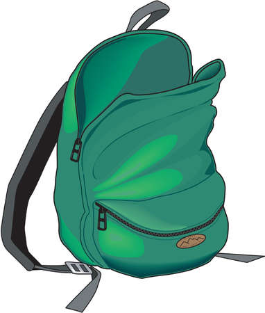 Backpack illustration. Stock fotó - 84042879