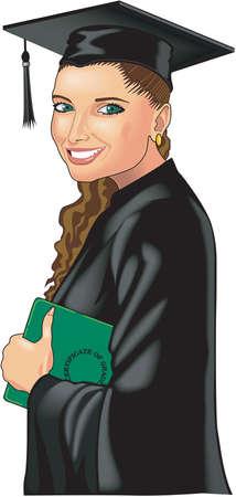 Graduate illustration. Illustration