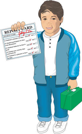 Report card illustration. Ilustrace