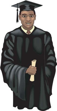 Graduate student illustration.