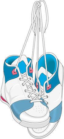 school class: Pair of Sneakers Illustration