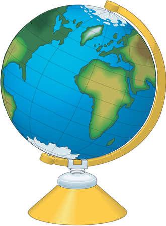 Wereldbol illustratie.