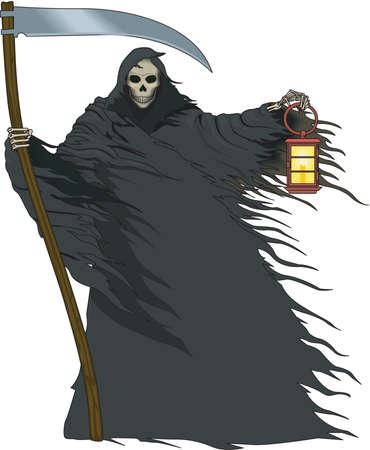Death illustration. Vectores