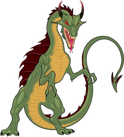 Dragon Illustration Reklamní fotografie - 84057823