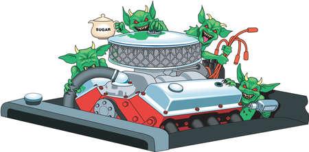 Gremlins Illustration Ilustrace