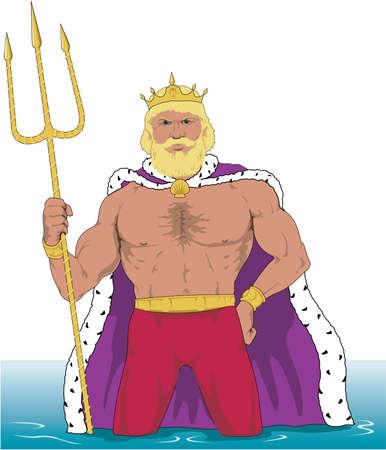 キング ネプチューンの図  イラスト・ベクター素材