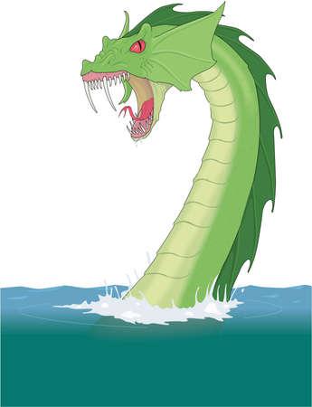 Sea Serpent Illustration Иллюстрация