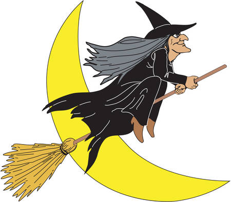 Witch Cartoon on a white background
