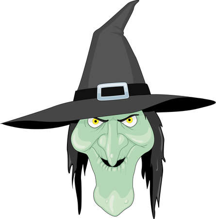 Witch Cartoon Illustration