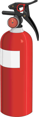 Fire Extinguisher Illustration Illustration