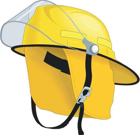 Fire Helmet Illustration Illustration