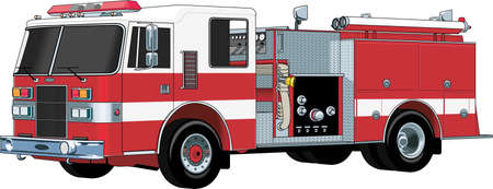 Fire Engine Illustration Illustration