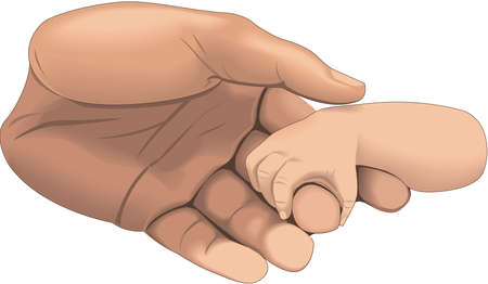 Babys Hand Gripping Finger Illustration