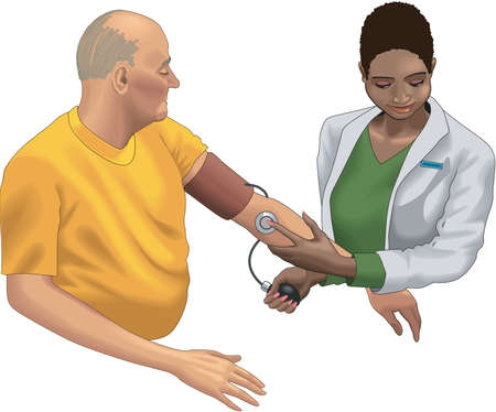 Taking Blood Pressure Illustration