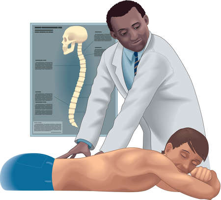 Chiropractor Illustration