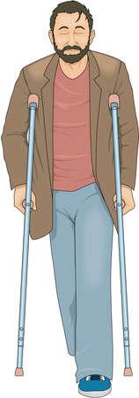Crutches Illustration
