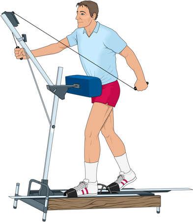 Exercise Machine Illustration