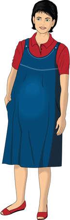 Pregnant woman illustration.