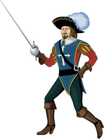 Cavalier Illustration Banque d'images - 84057894