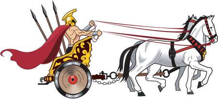 Chariot  Illustration Ilustracja