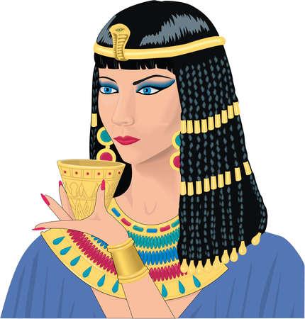 Kleopatra-Illustration Standard-Bild - 84057885