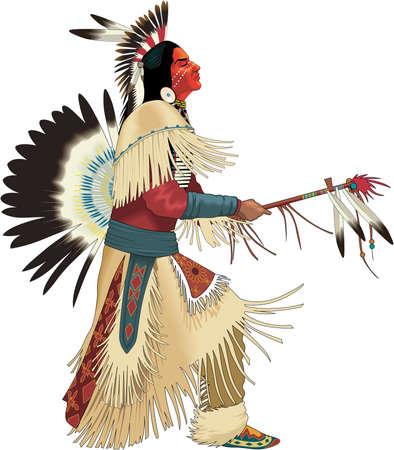 Illustrazione di danza indiana Vettoriali